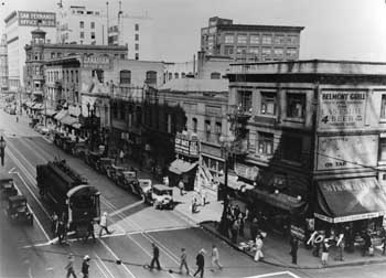 1920s view of Main St looking north (the Regent is just south of the Canadian Office Building), courtesy Los Angeles Public Library (JPG)