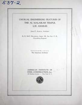 "12-page article ""Unusual Engineering Features of the Al Malaikah Temple, Los Angeles"" from the American Society of Civil Engineers, December 1927 (5.2MB PDF)"