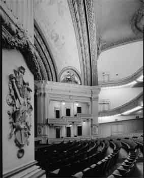 Interior photo of the Spreckels Theatre from the 1966 Historic American Buildings Survey (JPG)