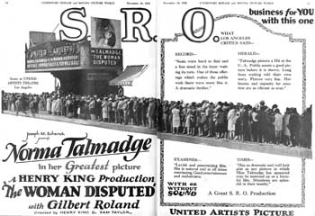 Advertisement featuring the theatre from <i>Exhibitors Herald and Moving Picture World</i> (10 November 1928), held by the Library of Congress and scanned online by the Internet Archive (600KB PDF)