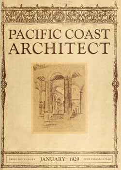 5-page photo feature from <i>Pacific Coast Architect</i> (January 1929), held by the San Francisco Public Library and scanned online by the Internet Archive (2.3MB PDF)