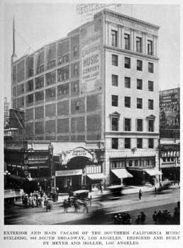 Photograph of the Garrick Theatre, predecessor of the Tower Theatre, from <i>California Southland</i> (August 1925), held by the California State Library and scanned online by the Internet Archive (JPG)