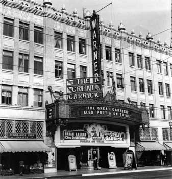 Marquee in 1937, courtest Los Angeles Public Library (JPG)